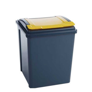 50 Litre Recycling Bin With Yellow Lid
