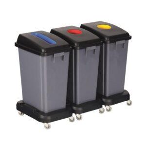 60L Grey Recycling Bin (no lid)