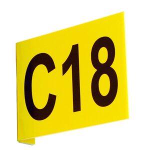 Aisle Marker Signs C/W Digits Flat 220h x 450w inc 1 Digit