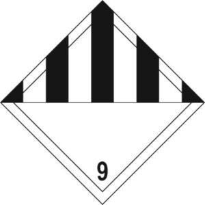 Black Chevron Diamond 9 - Self Adhesive Sign Diamond 200 x 200mm