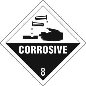 Corrosive 8 - Self Adhesive Sticky Sign Diamond (100 x 100mm)