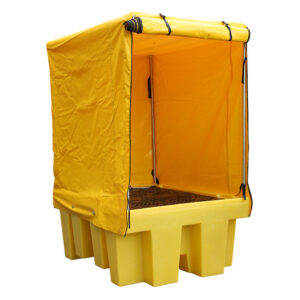 Covered IBC Spill Pallet - Double