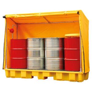 Covered drum storage spill pallet (1 drum) 2180 x 1000 x 680mm