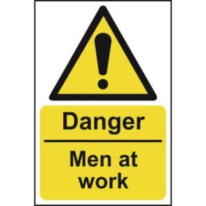 Danger Men At Work - Sign - PVC (200 x 300mm)