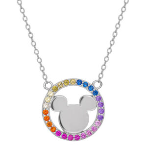 Disney Mickey Mouse Sterling Silver Multicoloured Necklace