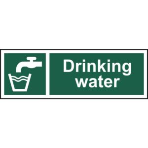 Drinking water - Self Adhesive Sticky Sign (300 x 100mm)