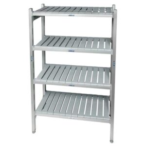 Eko fit Aluminium Shelving - 4 Shelf levels 450d x 920 Starter Bay