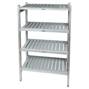 Eko fit Aluminium Shelving - 4 Shelf levels 600d x 1070 Starter Bay