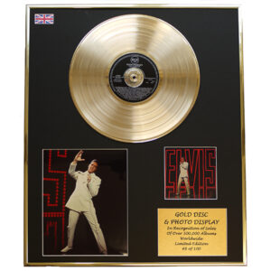 Elvis Presley - NBC TV Special Framed and Mounted CD on Gold Disc Limited Edition