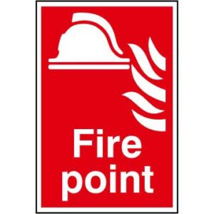 Fire point - Self Adhesive Sticky Sign (200 x 300mm)