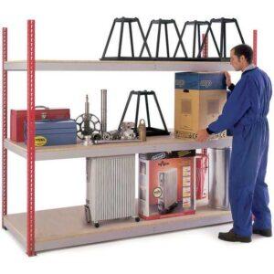 H/D Just Shelving - 1981h x 2400w x 900d 3 Chipboard Shelf Levels