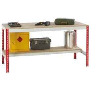 Just Workbench with Chipboard Top & Half Under shelf 1800 w x 750 d