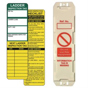 Ladder tag inserts - Pack of 10