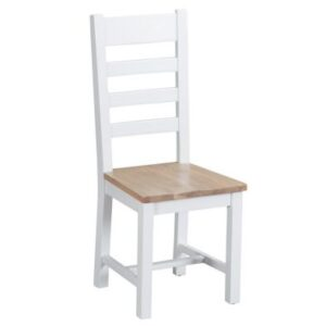 Lighthouse Ladder Back Dining Chair Oak & White