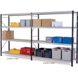 Longspan Shelving Extension Bays 1800 x 2400 x 450 3 Chipboard Shelves