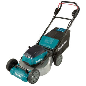 Makita Makita DLM530PG2 Brushless Steel Deck Lawn Mower 53cm (with 2 x 6.0Ah Batteries and DC18RD Twin Port Charger)