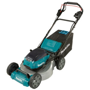 Makita Makita DLM532PT4 Brushless Self-Propelled Steel Deck Lawn Mower 53cm (with 4 x 5.0Ah Batteries and DC18RD Twin Port Charger)