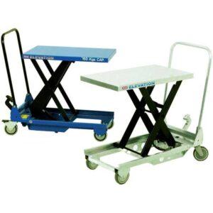 Manual Mobile Single Scissor Lift Table 150kg cap