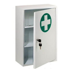 Metal Lockable First Aid Cabinet - 410 x 340 x 140