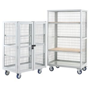 Mobile Distribution Trolley 1655x900x600mm, Plywood Shelves, No Doors