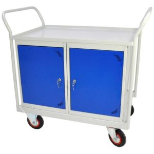 Mobile Maintenance Trolley - MDF Worktop, Drawer, 3 Shelves 900W