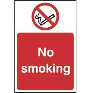 No smoking - Sign - PVC (200 x 300mm)