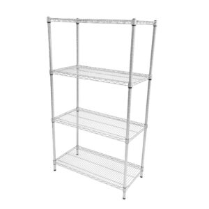 Perma plus wire Shelving - 4 Tier 1625H x 1370W x 460D Extension Bay