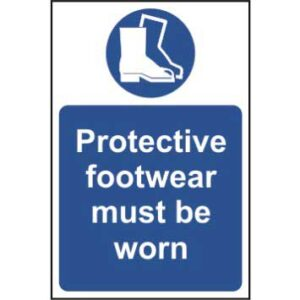 Protective footwear must be worn - Sign - PVC (400 x 600mm)