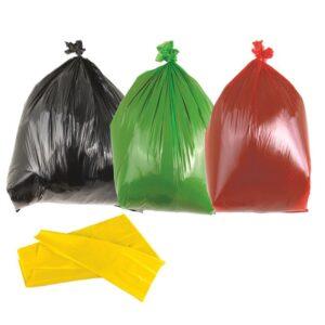 Red Medium Duty Bin Bags 90L - Box of 200 Bags
