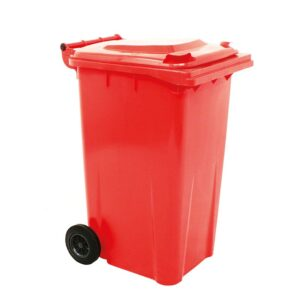 Red Wheelie Bin - 240 Litre