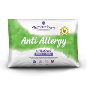 Slumberdown Anti-Allergy Medium Support Pillow (4 Pack)
