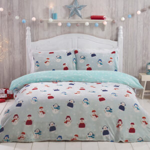Snowman Character Fleece Single Duvet Set