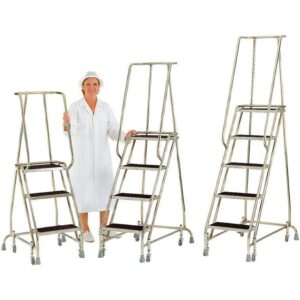 Stainless Steel Mobile Safety Steps 4 treads 1016 high