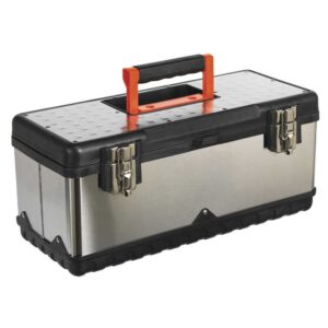 Stainless Steel Toolbox with Tote Tray 580w x 280d x 225h