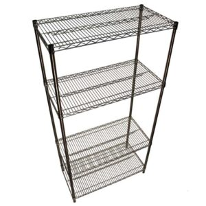 Stainless steel Wire Shelving - 4 Shelves 1820w x 610d Starter Bay