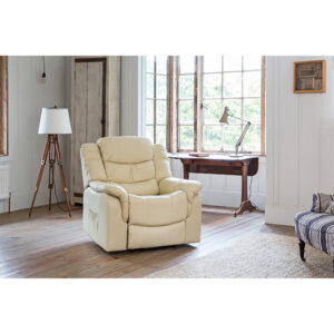 Stamford Bonded Leather Rise and Recliner Chair with Heat and Massage