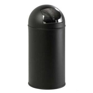 Steel Push Bins 40 litre Metallic Grey