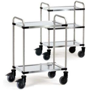 Three Tier Modular Stainless Steel Trolley - Shelf Size 630 x 400mm