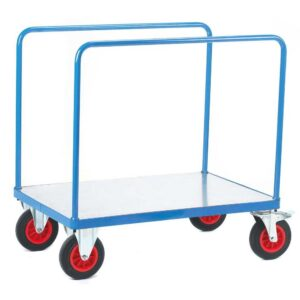 Two Bar Sides Galvanised Base Platform Trolley 1000 x 700