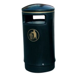 Victorian Hooded Top Litter Bin Complete With Liner