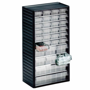 Visible Small Parts Storage Cabinet - 550 Series - 37h x 55w x 175d