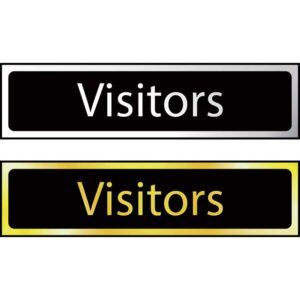 Visitors - Sign CHR (200 x 50mm)