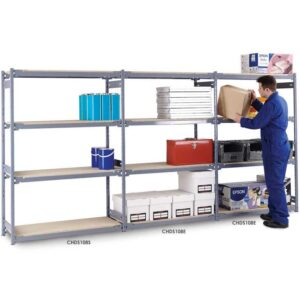 Widespan Shelving Extension Bay 1830 x 1220 x 610 4 Chipboard Shelves