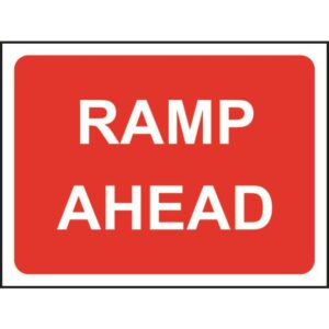 Zintec 600 x 450mm Ramp Ahead Road Sign (no frame)