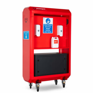 Armorgard SaniStation S20 - centralised hand sanitising unit - 1235mm x 500mm x 1850mm