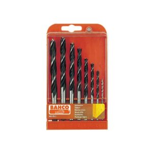 Bahco Lip & Spur Wood Drill Bit Set, 8 Piece 3-10mm