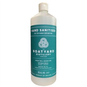 Boatyard Distillery Antibacterial 70% Alcohol Hand Sanitiser / Sanitizer - 1 Litre