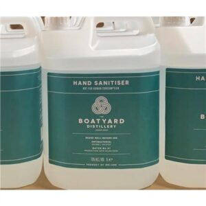 Boatyard Distillery Antibacterial 70% Alcohol Hand Sanitiser / Sanitizer - 5 Litre
