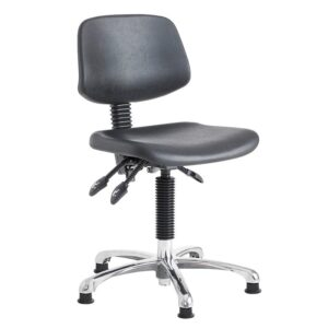 Cushioned High Lift Operator Swivel Chair with Glides - 550-800mm
