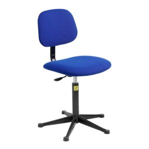 ESD Upholstered Operator Chair with Glides, High Lift 550-800 h